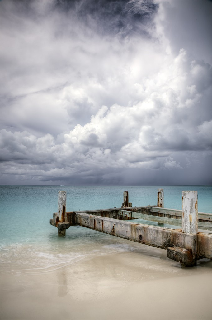 turks and caicos, caribbean, beach, storm, dock, reflection, travel, island, sand, reflection, clouds,
