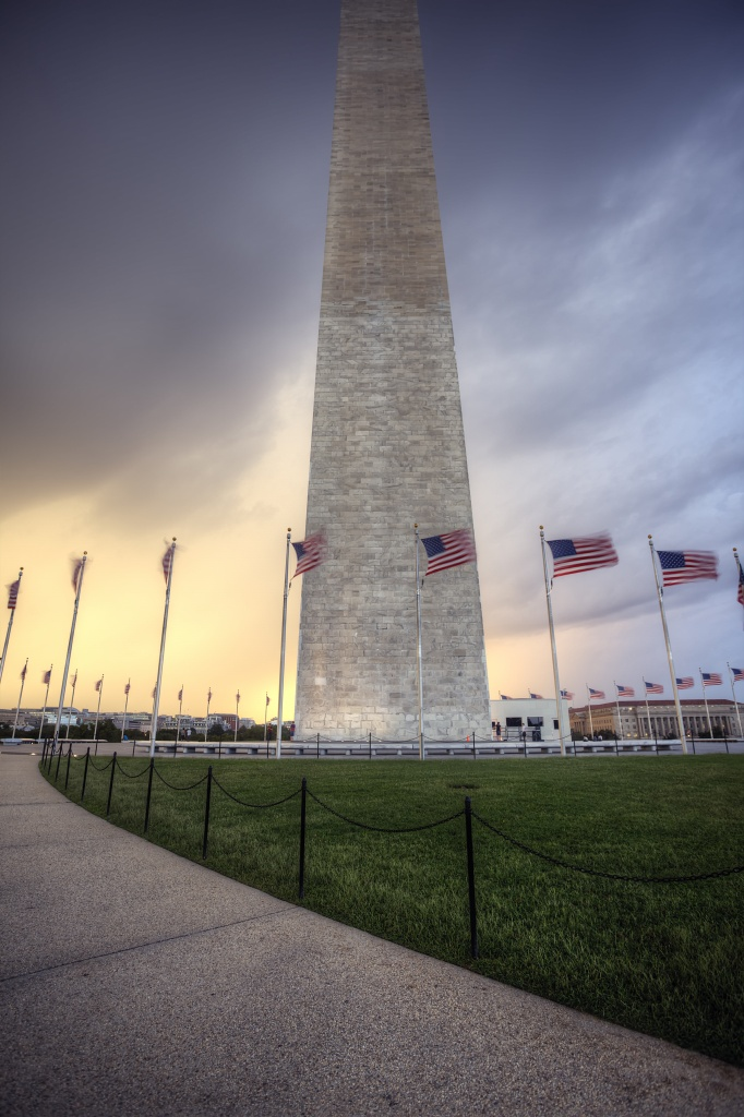 washington monument, storm, flags, america, capitol, capital, washington dc, rain, clouds, weather
