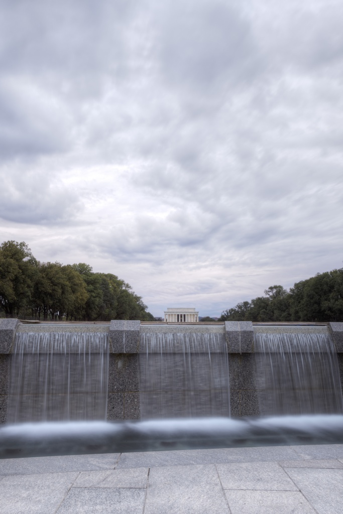 wwii memorial, fountains, lincoln, memorial, washington dc, clouds, storm, water, tour, national mall