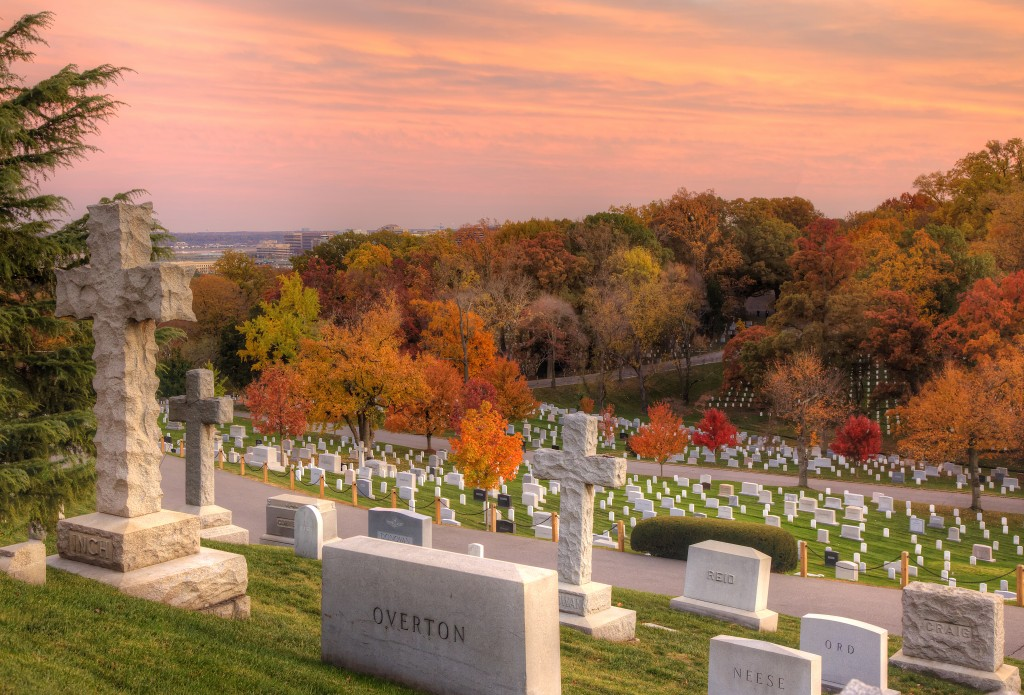arlington national cemetery, sunset, autumn, fall, veterans day, graves, cemetery, virginia, va, travel, jarvie, cross, trees, colors