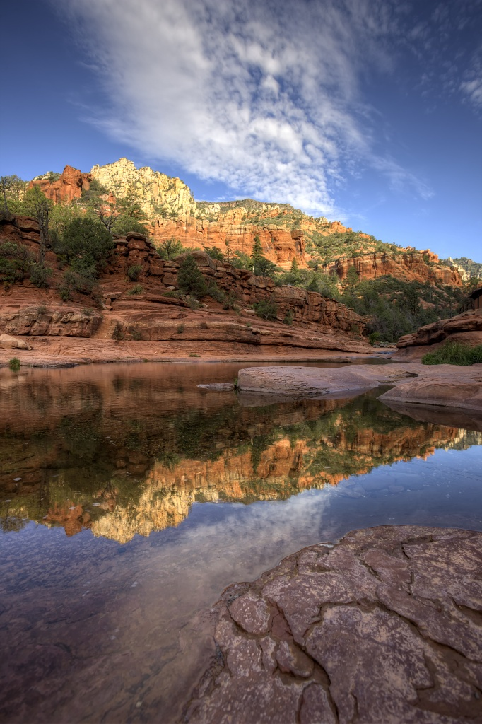 arizona, az, slide rock, state park, reflection, fall, travel, landscape,
