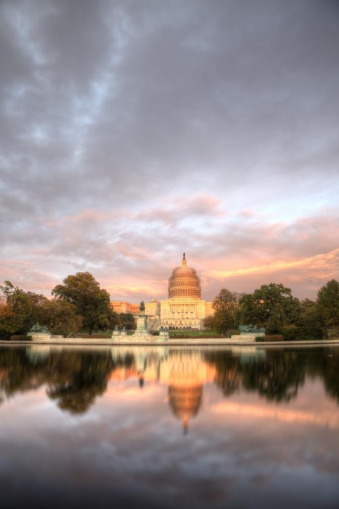 sun, sunset, light, capitol, washington dc, reflection, color, us capitol, tour, travel