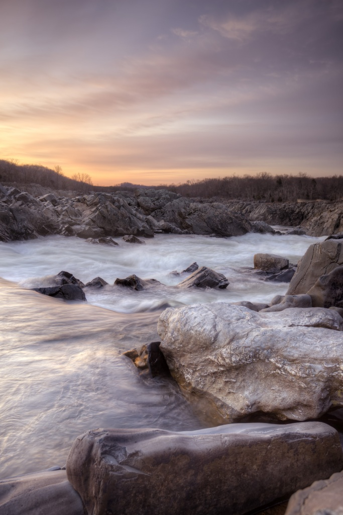 great falls, virginia, va, state park, mather gorge, waterfall, nature, rocks, water, sunrise