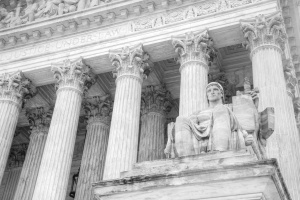 justice under law, supreme court, black and white, washington dc, justice, law, columns, architecture,