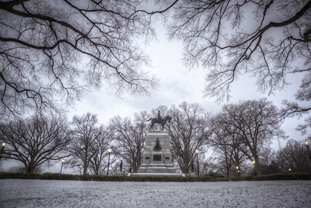 juno, winter storm, blizzard, washington dc, winter, weather, statue, trees, framing, white house, hdr, landscape,