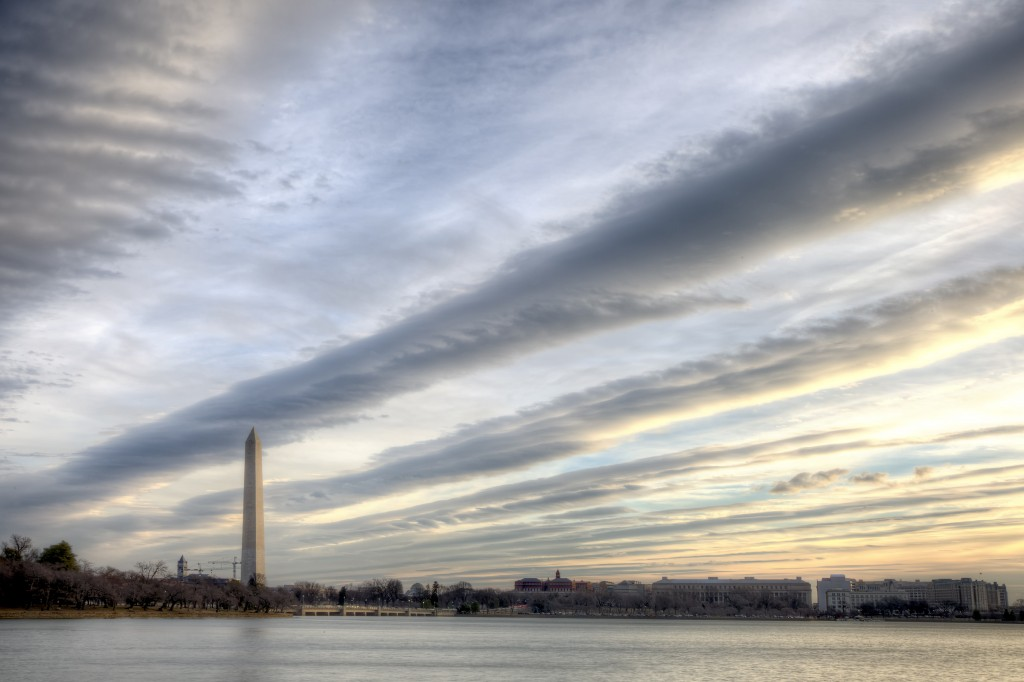 washington monument, washington dc, ilovedc, igdc, clouds, sunrise, weather, tidal basin, travel, visit, run, walk