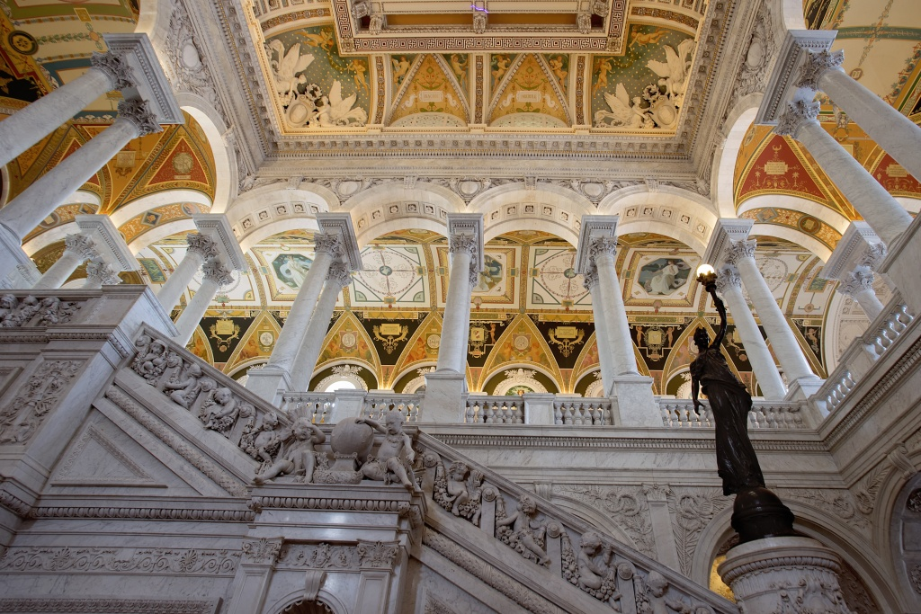 library of congress, loc, stairs, hallway, interior architecture, cameras, pictures, beautiful, interior, washington dc, library