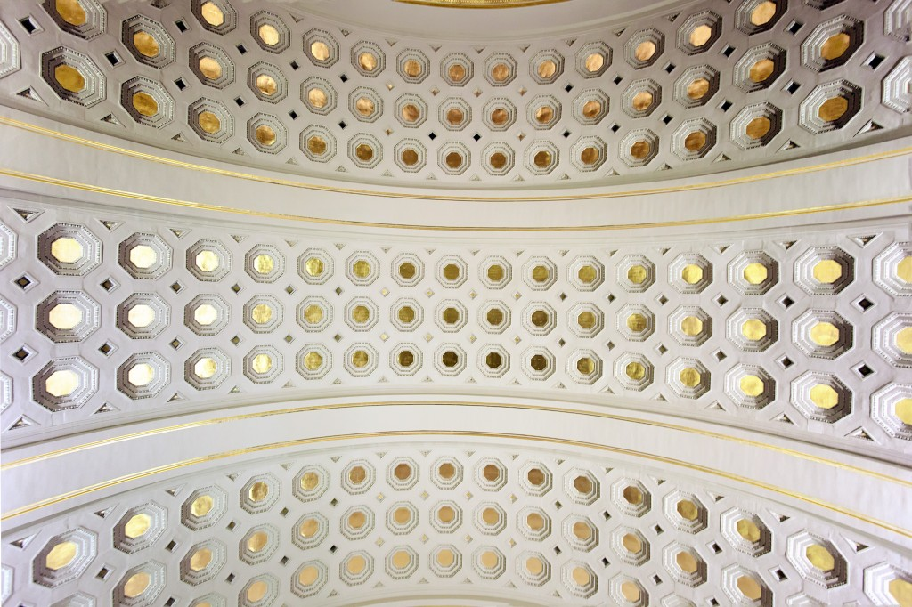 ceiling, construction, union station, train station, washington dc, architecture, interior, gold