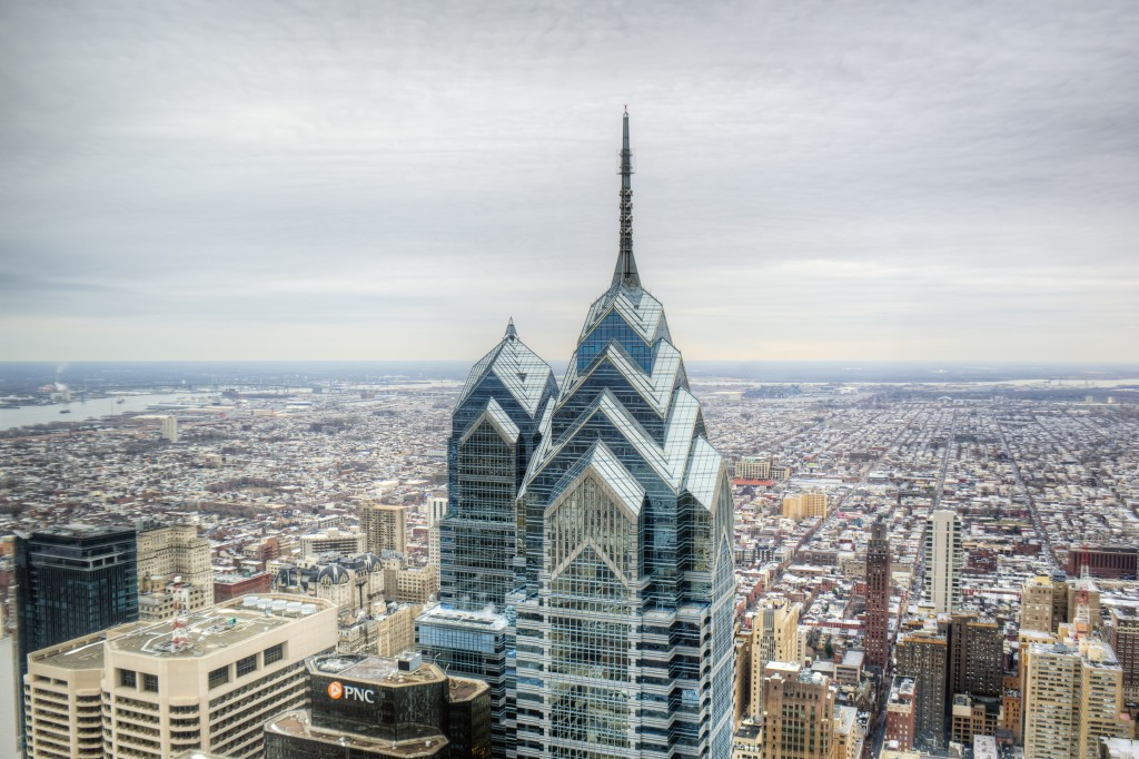 comcast building, philadelphia, philly, pennsylvania, skyline, building, architecture, through the window