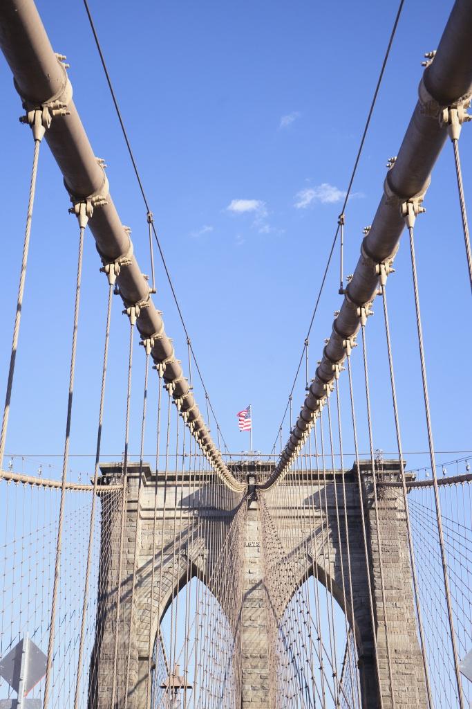brooklyn bridge, architecture, bridge, walking across, new york, city, manhattan, city