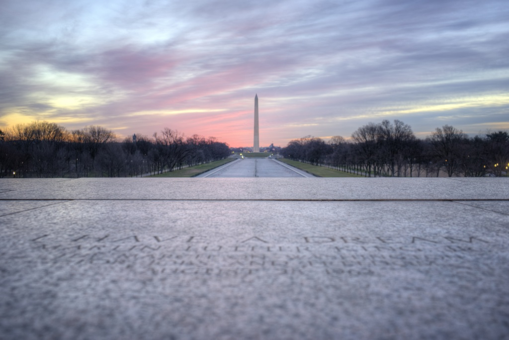 lincoln memorial, washington monument, sunrise, reflecting pool, i have a dream, martin luther king jr, washington dc, dc, steps, mlk,