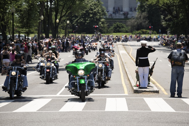 rolling thunder, veterans, washington dc, memorial day weekend, motorcycles, pow, mia, soldier