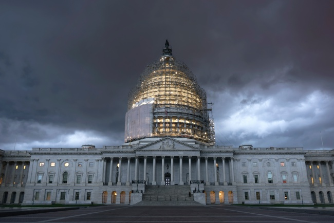 us capitol, storm, severe, clouds, restoration, dome, architecture