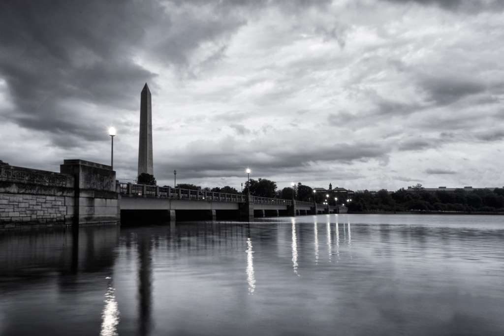 washington monument, storm, thunder, tidal basin, washington dc, clouds, reflection, visit, summer