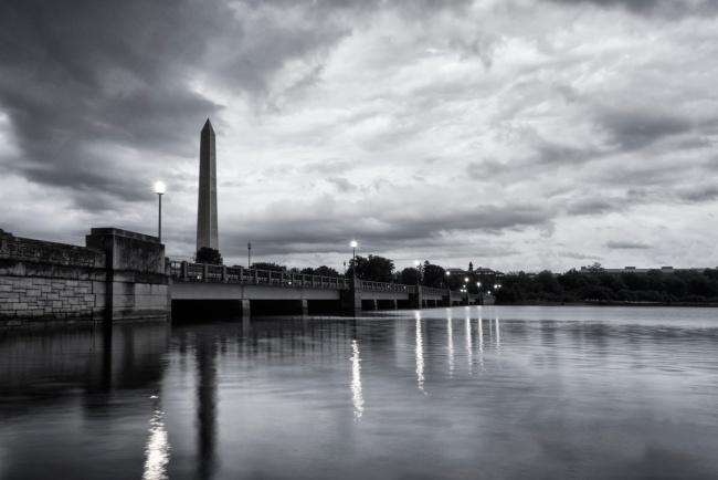 washington monument, storm, thunder, tidal basin, washington dc, clouds, reflection, visit, summer