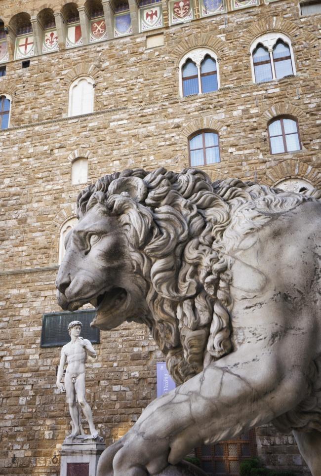Palazzo Vecchio, The Loggia della Signoria, david, lion, statue, italy, florence, fun, travel, explore
