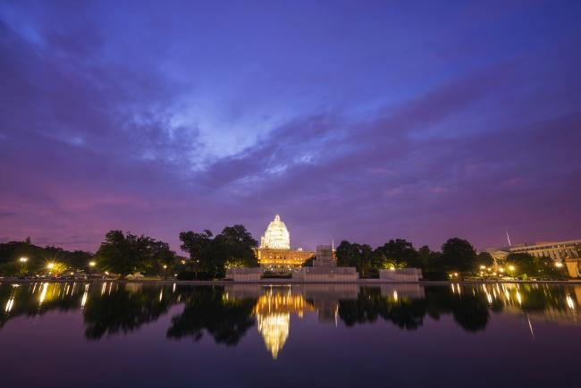 capitol dome restoration project, blue hour, sunrise, pink, purple, treyusa, photowalk,