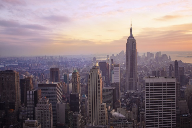 new york, state, city, empire state, top of the rock, sunset, architecture, building, skyline, photography, travel,