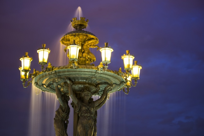 bartholdi fountain, sunset, blue hour, washington dc, long exposure, water, lights, sky,