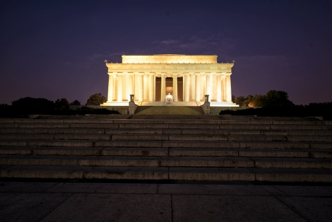 lincoln memorial, steps, dawn, architecture, sunrise, new morning, visiting, runners, washington dc
