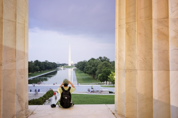 lincoln memorial, photographer, storm, summer, guy