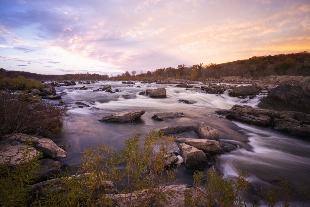 great falls, park, sunset, virginia, national park, gw parkway, georgetown pike, mclean, water, rocks, park, hike