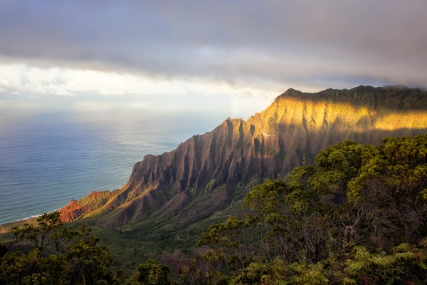 kauai, hawaii, trail, hike, volcano, Kalalau Beach, landscape,