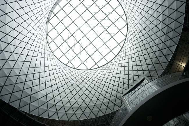 fulton center, new york, transit station, center, subway, architecture, black and white, lines