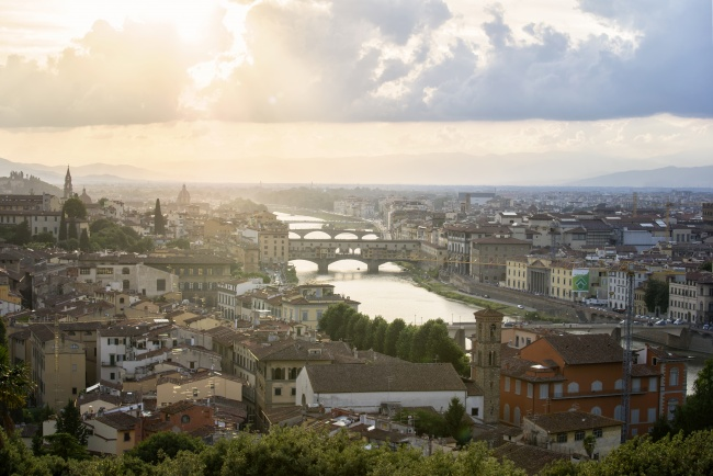 piazzale michelangelo, florence, italy, travel, olltrarno distrcit, italia, city, lookout, panoramic view, hill, arno river, sunset,