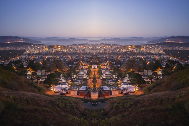 san francisco, california, ca, visitca, twin peaks, sunrise, scenic, best view, overview, city, highest point, golden gate,