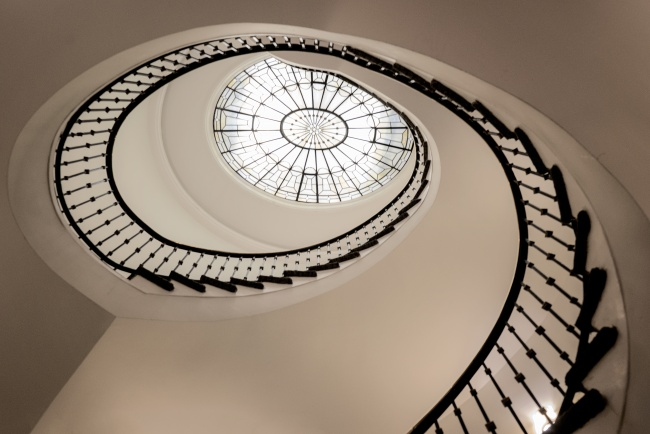 w hotel, washington dc, white house, spiral staircase, interior, architecture, looking up