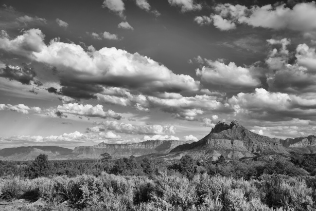 utah, zion national park, black and white, landscape, canyon, cliffs, travel, visit