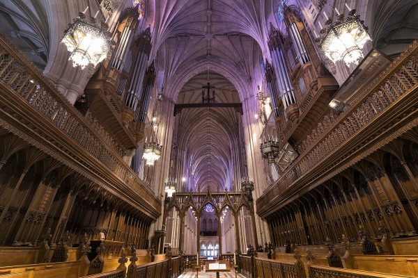 grand choir, organ, washington dc, washingtion national cathedral, Cathedral Church of Saint Peter and Saint Paul in the City and Diocese of Washington, Episcopal Church, neo-gothic,