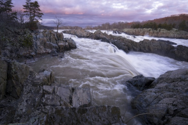 great falls, sunset, virginia, va, state park, national park, mather gorge, waterfall, rocks, nature, long exposure, winter, things to do, outlook 1