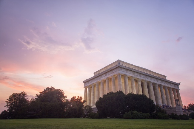 lincoln memorial, sunset, pink, washington dc, sky, visit, travel, architecture,