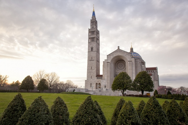 national shrine, shrine of the immaculate conception, washington dc, north east, ne, basilica, mass, easter