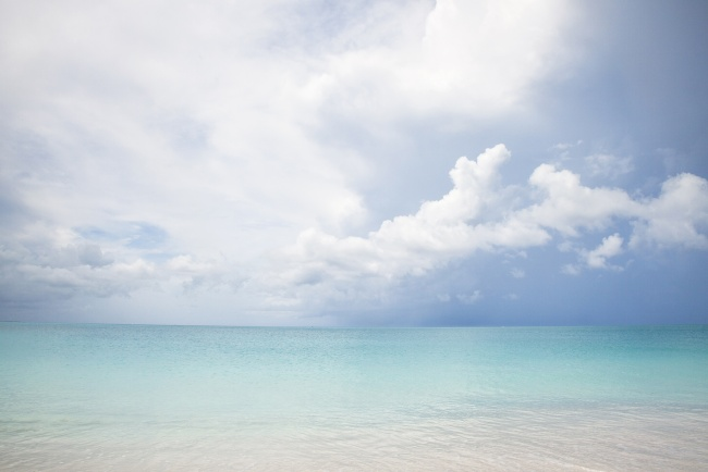 grace bay, turks and caicos, beach, clouds, blue, water, ocean, caribbean, island, travel,