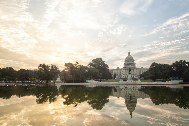 us capitol, government, architecture, reflection, symmetry, washington dc, early morning, sunrise, clouds, america, usa, capital,