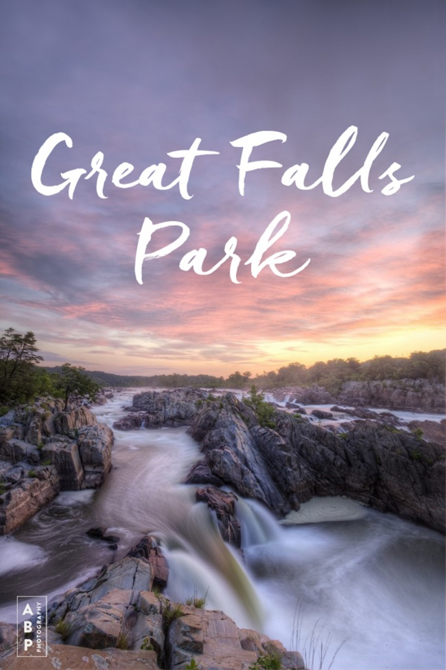 virginia guide, great falls park, mather gorge, potomac river, guide, tips, trail, visit, virginia, maryland, va, md, waterfall, sunrise, sunset, state park, hiking, national park,