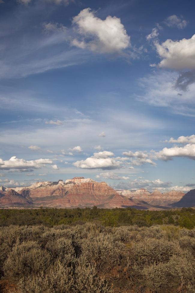 zion national park, utah, red rocks, southwest, america, travel, clouds,