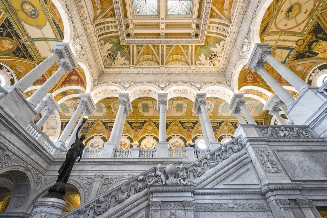 library of congress, loc, research, congress, washington dc, interior, architecture, national library, stairs,