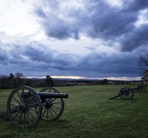 manassas, va, virginia, battlefield, canons, house, storm, clouds, rain, visit, national battlefield, point of interest, park service