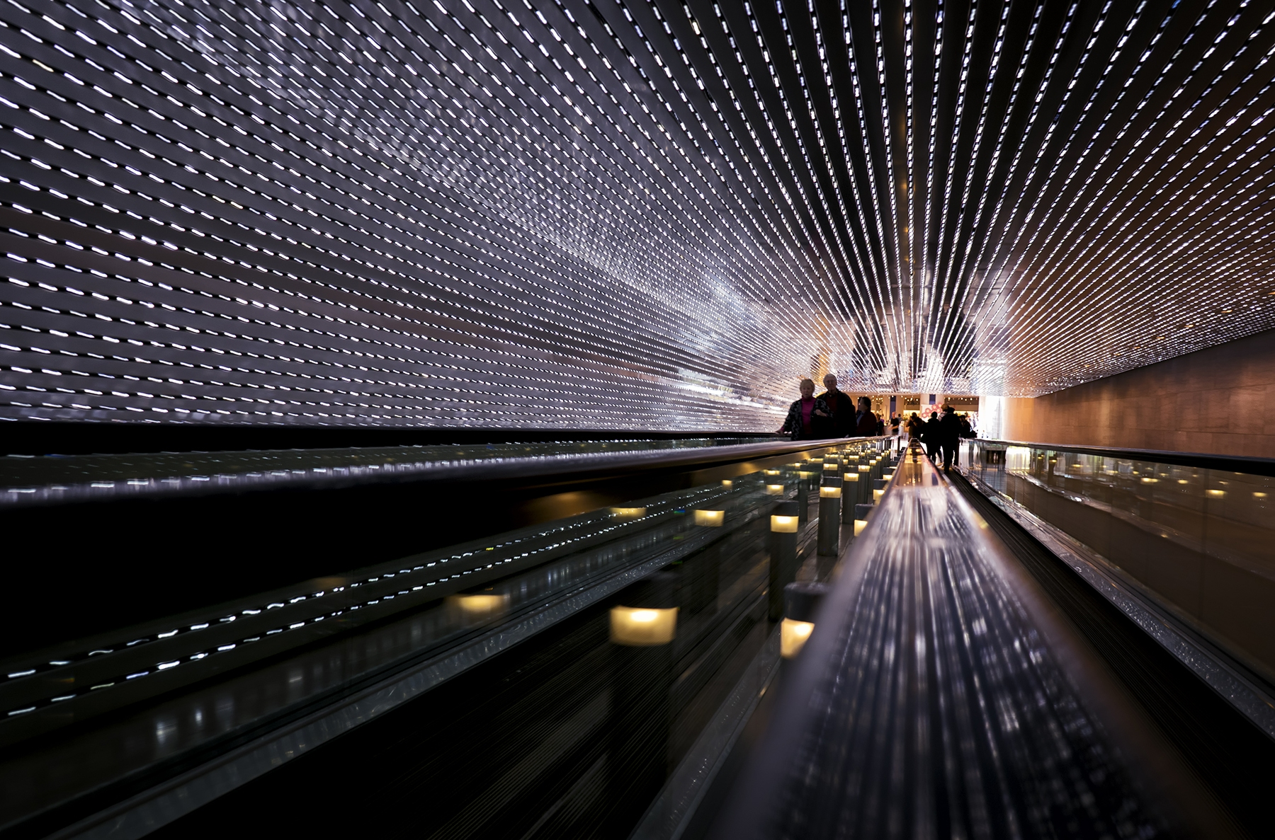 national gallery of art, washington dc, east building, west building, lights, smithsonian, art installation, multiverse, leo villareal