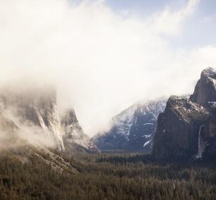 yosmite, fog, california, yosemite national park, tunnel view, ansel adams, three brothers, california, visit, ca, waterfall, beautiful, magical, special