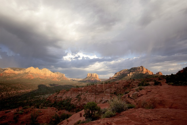sedona, az, arizona, desert, flagstaff, red rocks, hike, summer, clouds,
