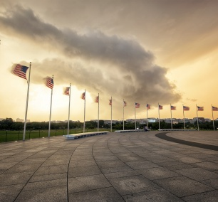 summer, storms, washington monument, washington dc, american flags, wind, cell, weather, sunset,