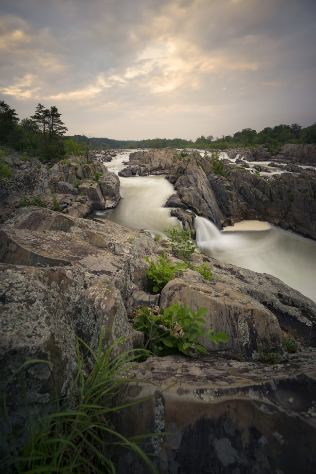 great falls park, va, virginia, sunset, rocks, potomac, national park service, mclean, nature, park, fairfax county