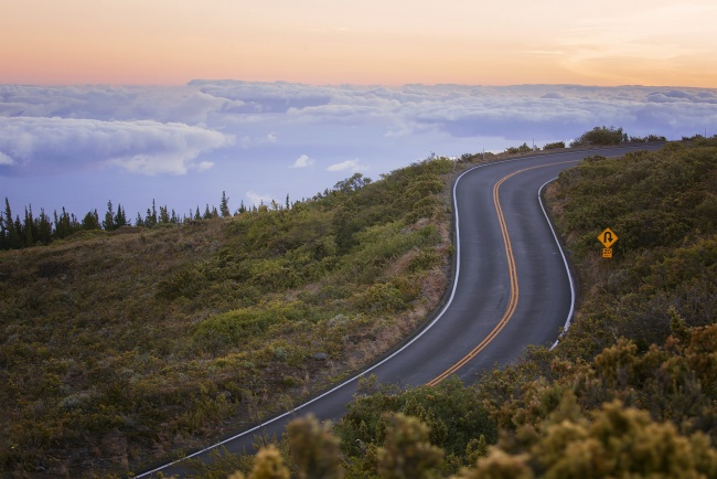 haleakala national park, maui, hawai'i, summit, road, above the clouds, all the way up, sunrise,