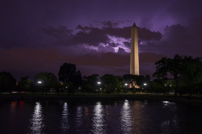 washington dc, washington monument, national mall, obelisk, george washington, northwest dc, national park service, night, storm, lightning, kutz bridge