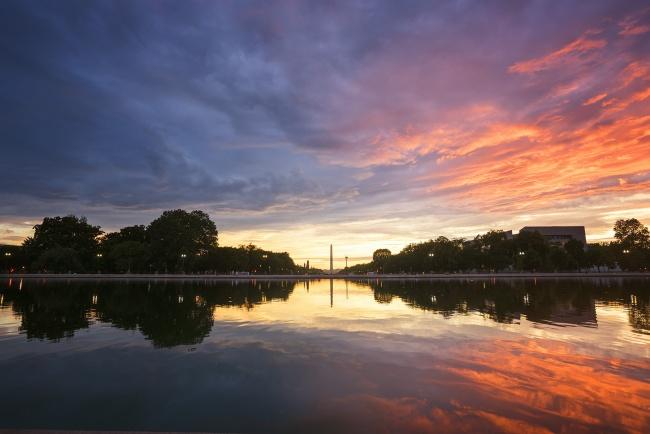 capitol reflecting pool, us capitol, washington monument, blue, red, reflection, usa, washington dc, capitol grounds,